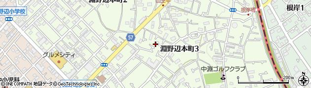 神奈川県相模原市中央区淵野辺本町周辺の地図