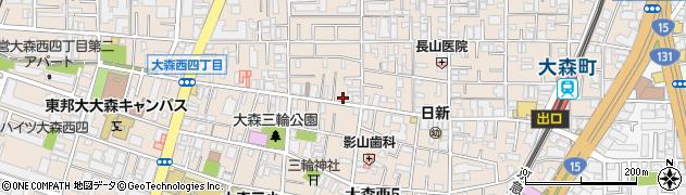 東京都大田区大森西周辺の地図