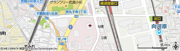 イーストタワー周辺の地図