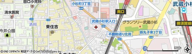 川崎市 総合自治会館周辺の地図