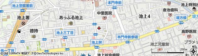 東京都大田区池上周辺の地図