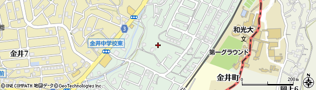 東京都町田市金井町周辺の地図