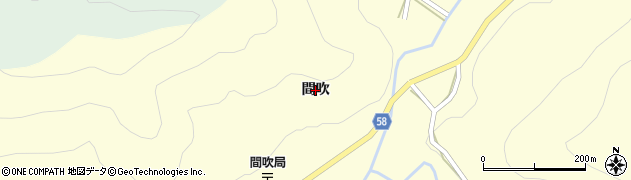 岐阜県関市中之保(間吹)周辺の地図