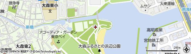 東京都大田区ふるさとの浜辺公園周辺の地図