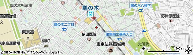 東京都大田区鵜の木周辺の地図