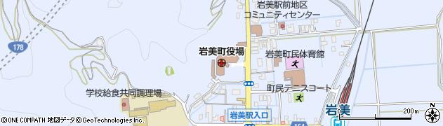 鳥取県岩美郡岩美町周辺の地図