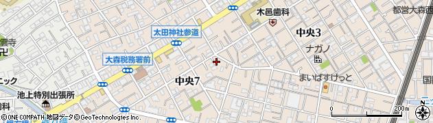 東京都大田区中央7丁目周辺の地図