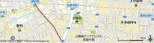 全龍禅寺周辺の地図