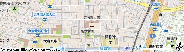東京都大田区大森西2丁目16周辺の地図