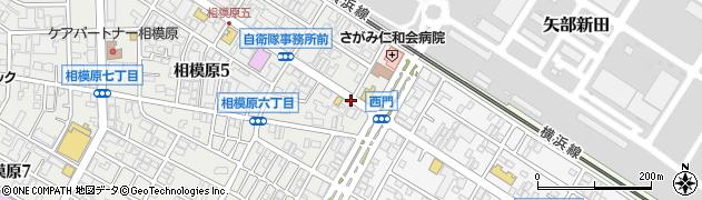 西門前周辺の地図