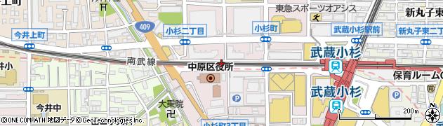 小杉町3丁目町会会館周辺の地図