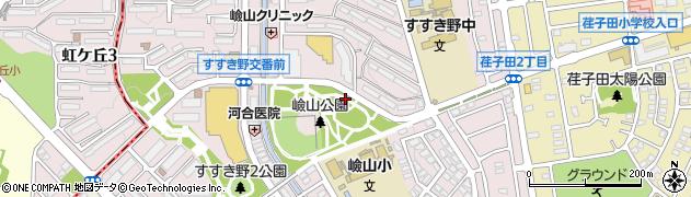 神奈川県横浜市青葉区すすき野周辺の地図