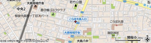 大森善照寺周辺の地図