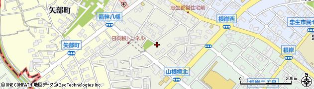 東京都町田市根岸町周辺の地図