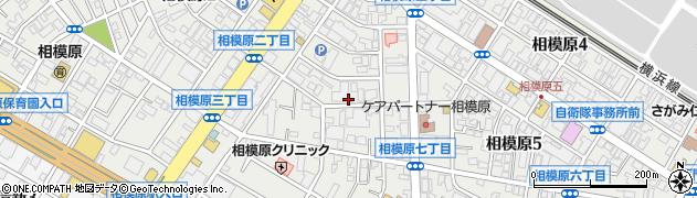 神奈川県相模原市中央区相模原周辺の地図