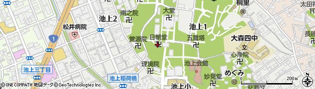 日朝堂周辺の地図