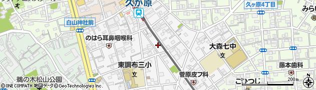 東京都大田区南久が原周辺の地図