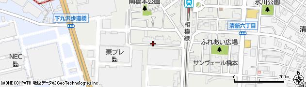 神奈川県相模原市中央区南橋本周辺の地図
