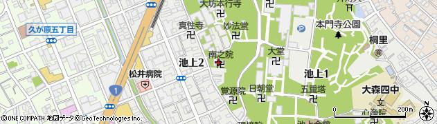 南之院周辺の地図