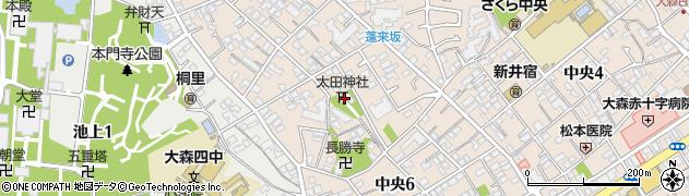 太田神社周辺の地図