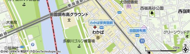 東京都大田区田園調布南周辺の地図