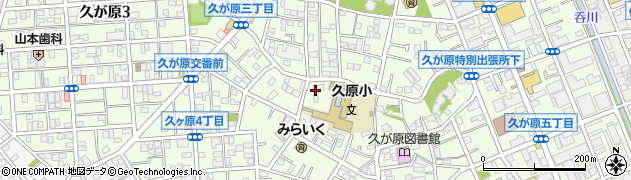 東京都大田区久が原周辺の地図