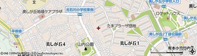 神奈川県横浜市青葉区美しが丘周辺の地図