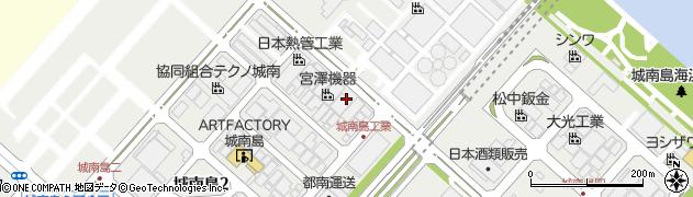 東京都大田区城南島周辺の地図