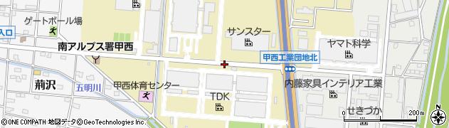 山梨県南アルプス市宮沢周辺の地図