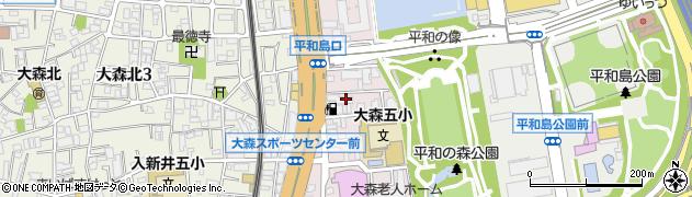 東京都大田区大森本町周辺の地図