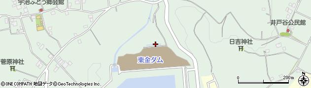 東金ダム周辺の地図