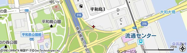東京都大田区平和島周辺の地図