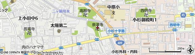 泉沢寺周辺の地図