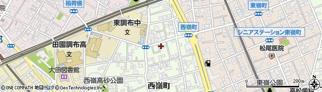 東京都大田区西嶺町周辺の地図