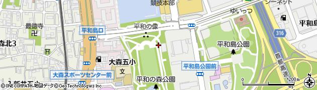 東京都大田区平和の森公園周辺の地図