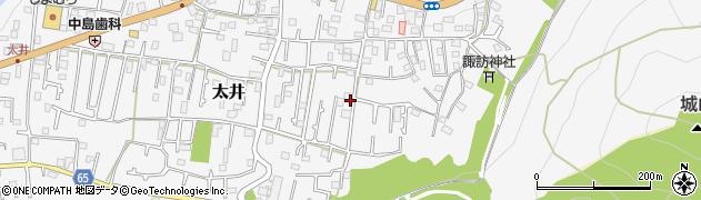 神奈川県相模原市緑区太井周辺の地図