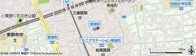 東京都大田区東嶺町周辺の地図