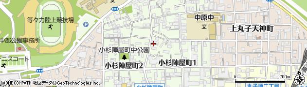 神奈川県川崎市中原区小杉陣屋町周辺の地図