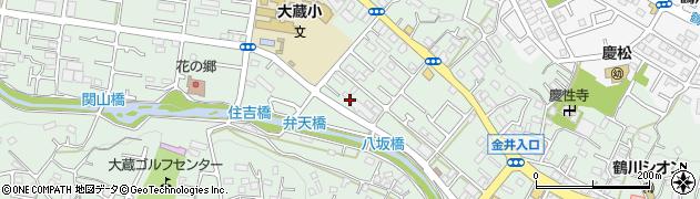 東京都町田市大蔵町周辺の地図