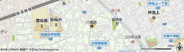 道々橋八幡神社周辺の地図