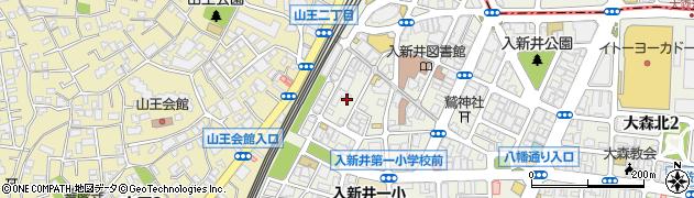 東京都大田区大森北周辺の地図
