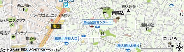 東京都大田区南馬込周辺の地図