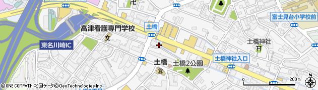 神奈川県川崎市宮前区土橋周辺の地図