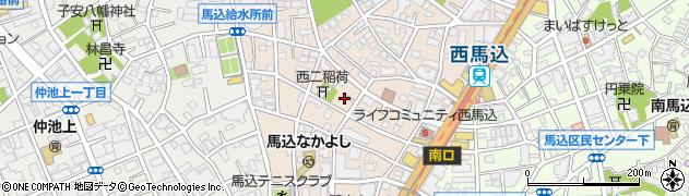 東京都大田区西馬込周辺の地図