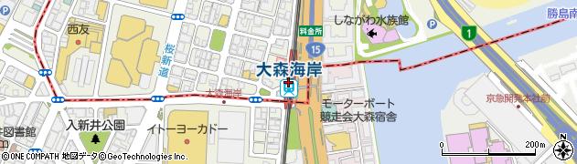 東京都品川区周辺の地図
