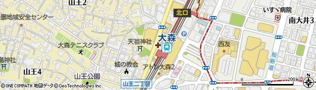 東京都大田区山王周辺の地図