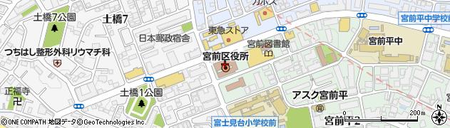 神奈川県川崎市宮前区周辺の地図