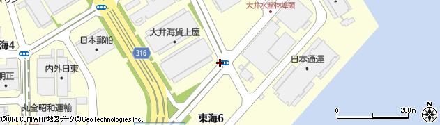 東京都大田区東海周辺の地図