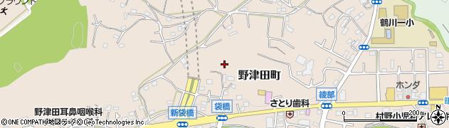東京都町田市野津田町周辺の地図