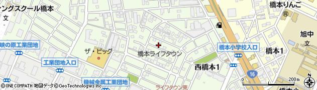神奈川県相模原市緑区西橋本周辺の地図